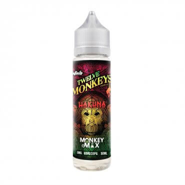 Twelve Monkeys - Hakuna - 50ml (Liquid), 0mg/ml, 65/35 VG/PG