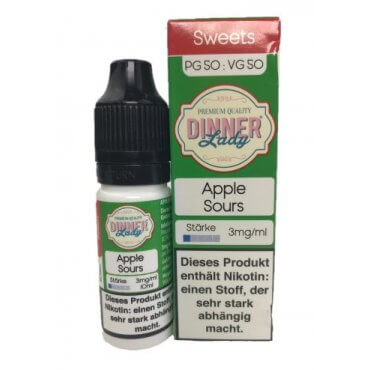 Dinner Lady - Tuck Shop Apple Sour - 25ml (Liquid), 0mg/ml, 70/30 VG/PG