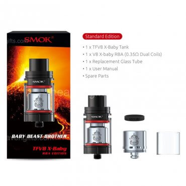 Smok - Tfv8 X-Baby Beast Brother - black (Tank), 2/4ml