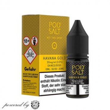 Havana Gold - Pod Salt 20mg 10ml Liquid